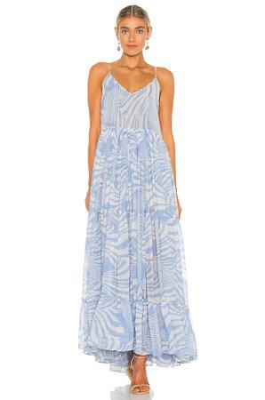 MISA Los Angeles Kalita Dress in Casablanca Blu Shell | REVOLVE
