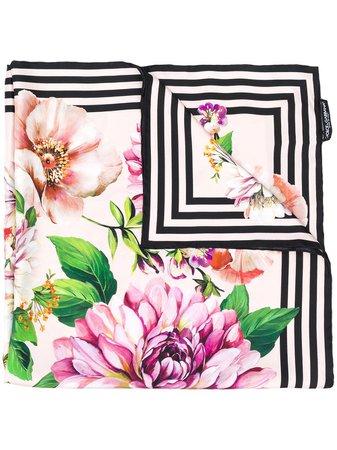 Dolce & Gabbana Floral Print Silk Scarf - Farfetch