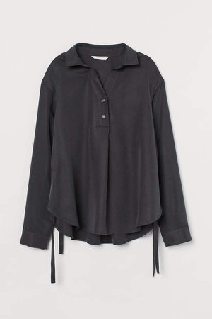 MAMA Lyocell Nursing Blouse - Black