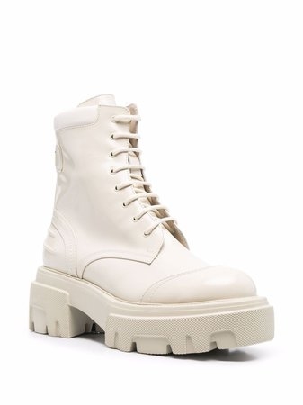 MSGM leather chunky-sole boots - FARFETCH