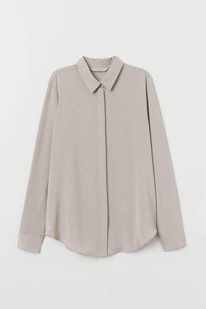 Long-sleeved Blouse - Gray