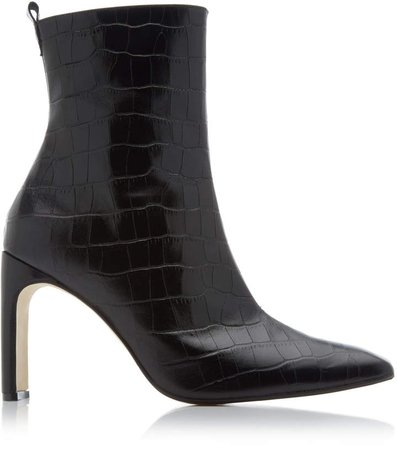 Marcelle Croc-Embossed Leather Boots
