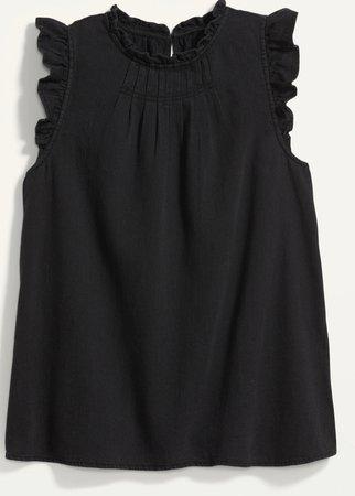 Old Navy black ruffle top