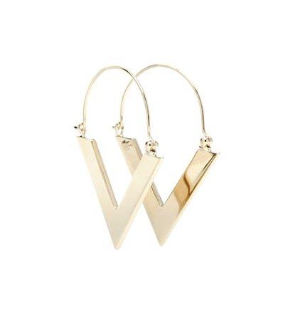Valentino Garavani brass earrings