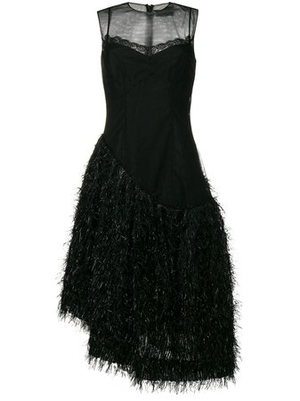 Shop black Simone Rocha Asymmetric hem dress with Express Delivery - Farfetch