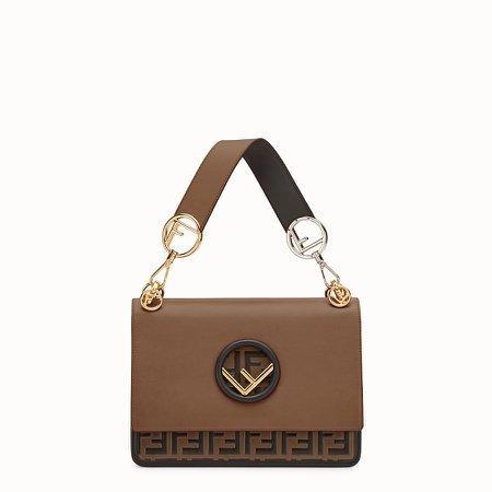 Brown leather bag - KAN I F | Fendi