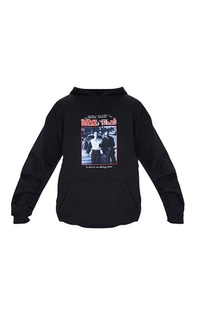 Black Slogan Boyz In The Hood Print Hoodie | PrettyLittleThing USA