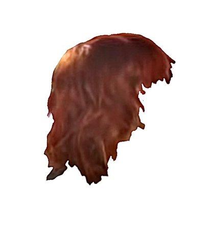 choppy red hair