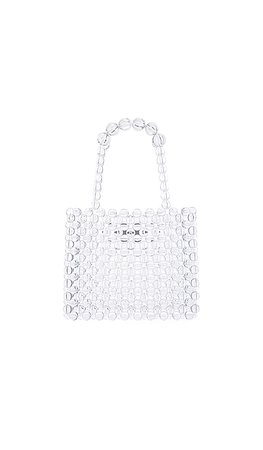 Lovers + Friends Carrie Beaded Purse in Clear | REVOLVE