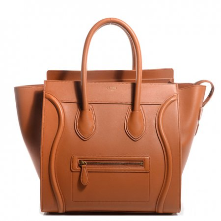 CELINE Smooth Calfskin Mini Luggage Bag Light Copper 70778