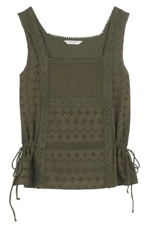 Lucky Brand Mixed Media Side Tie Tank | Nordstrom