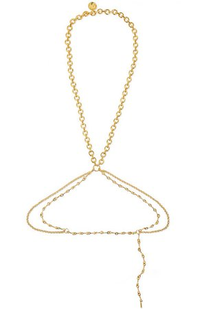 Chloé | Gold-tone body chain | NET-A-PORTER.COM