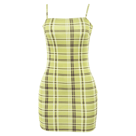 JESSICABUURMAN - MRYLU Checkered Plaid Mini Cami Dress