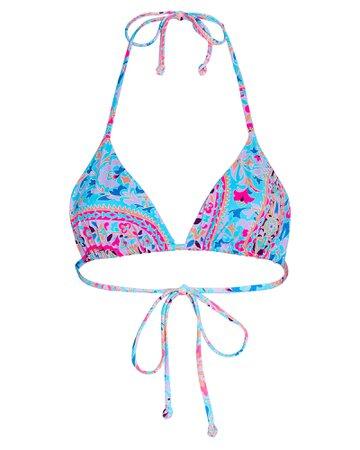 Frankies Bikinis Tia Triangle Bikini Top | INTERMIX®