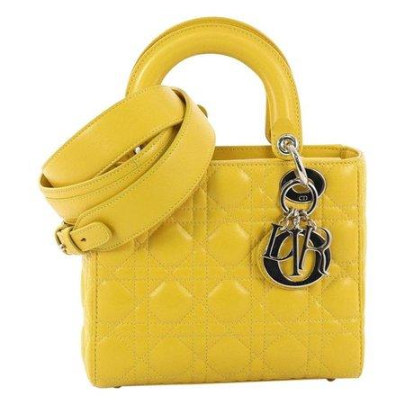 Christian Dior My Lady Dior Handbag Cannage Quilt Lambskin