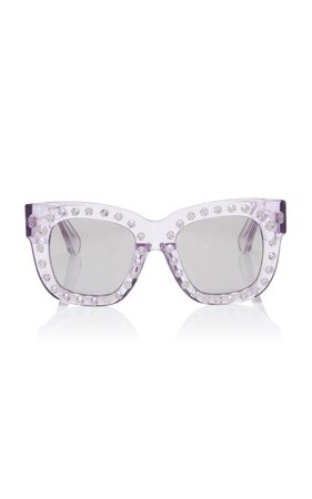 Acne Studios Library Embellished Square-Frame Sunglasses