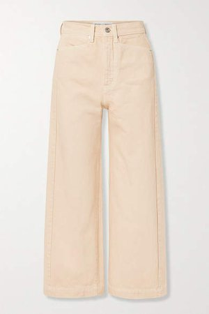White Label - Cropped High-rise Straight-leg Jeans - Beige