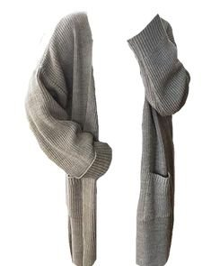 Long Grey Cardigan (png)