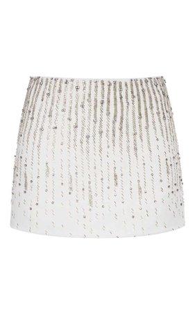 Giamba Sequin Embellished Mini Skirt