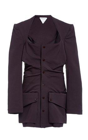 Gathered Gabardine Blazer by Bottega Veneta | Moda Operandi