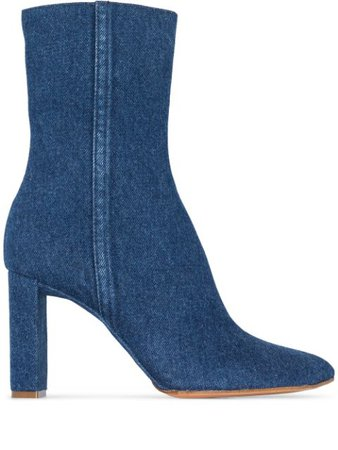 Y/Project 100Mm Denim Ankle Boots Ss20 | Farfetch.Com