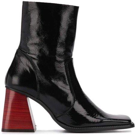 London red block heel boot