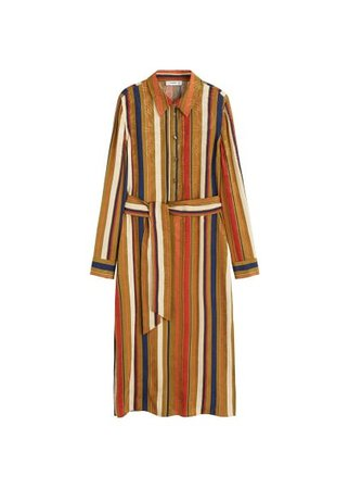 MANGO Jacquard shirt dress