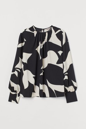 Creped Blouse - Black