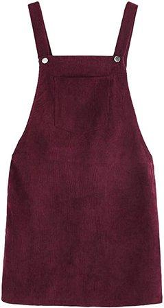 Amazon.com: ROMWE Women's Straps A-line Corduroy Pinafore Bib Pocket Overall Dress Yellow X-Large: Clothing