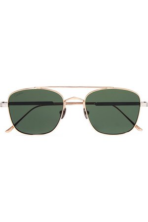 Cartier Eyewear | Aviator-style gold and silver-tone sunglasses | NET-A-PORTER.COM