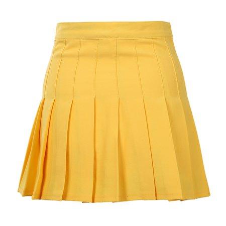 tennis skirt yellow