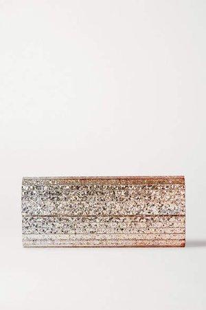 Sweetie Glittered Acrylic Clutch - Silver