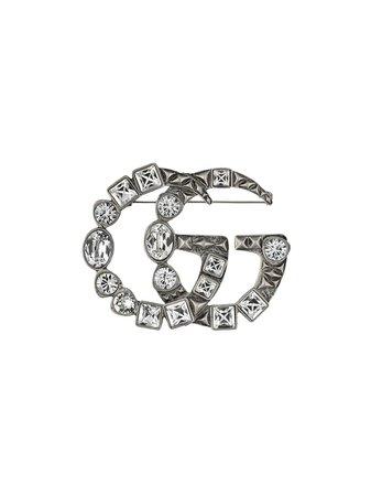 Gucci Broche Double G Com Cristais - Farfetch