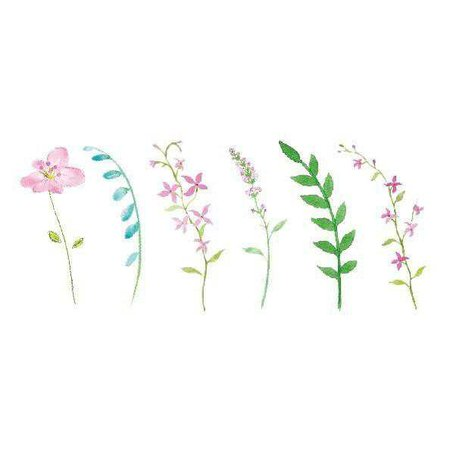 itGirl Shop | FRAGILE PLANTS FLOWERS TEMPORARY TATTOOS