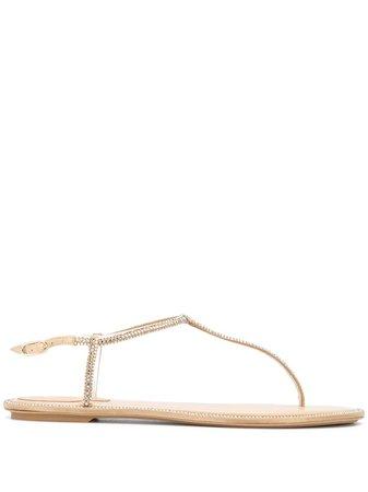René Caovilla Crystal Embellished Sandals - Farfetch