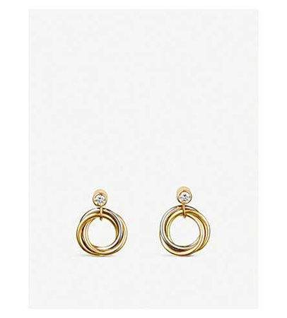 CARTIER - Sweet Trinity 18ct gold and diamond earrings | Selfridges.com