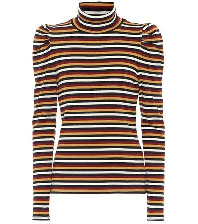 Veronica Beard - Cedar striped stretch-cotton sweater   Mytheresa