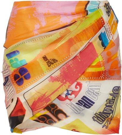Zimmermann Brightside Wrap Mini Skirt Size: 0