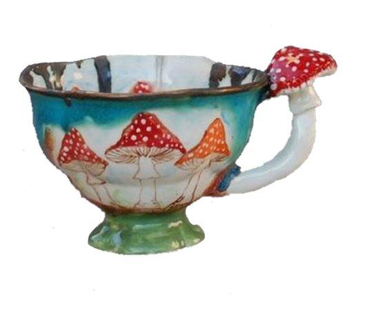 Porcelain Dream Shoppe Mushroom Tea Cup