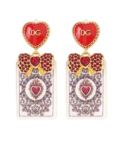 Crystal-Embellished Earrings - Dolce & Gabbana | mytheresa.com