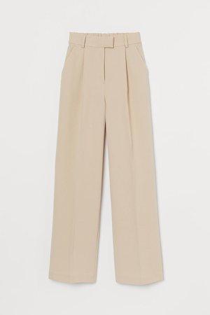 Wide-cut Pants - Beige