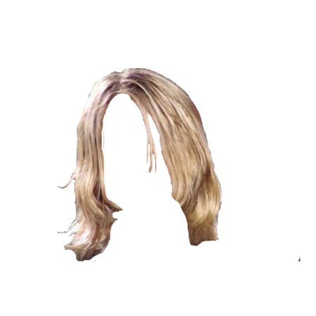 short blonde hair png