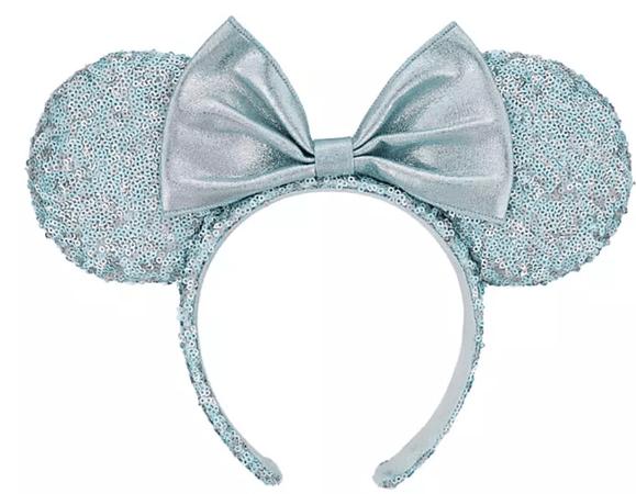 Arendelle Aqua Minnie Mouse Ears Headband With Bow – My Disney Shop
