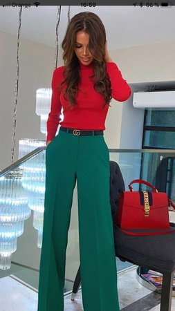 green red oufit - Google Search