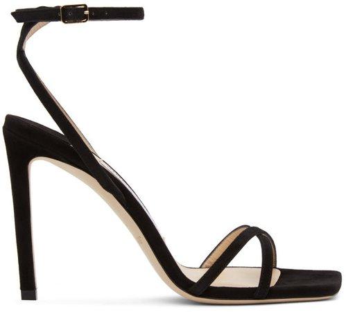Black Metz 100 Heeled Sandals