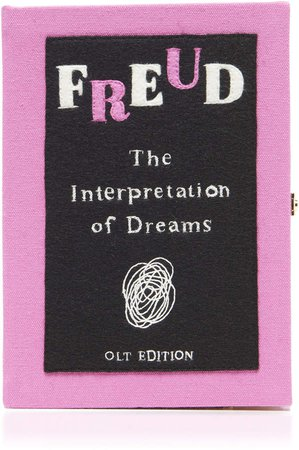 Olympia Le-Tan Freud Embroidered Book Clutch