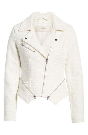 BLANKNYC Tweed Fitted Zipper Moto Jacket   Nordstrom