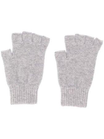 Pringle Of Scotland Fingerless Fine Knit Gloves AGH017   Farfetch