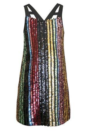 Hannah Banana Rainbow Sequin Dress