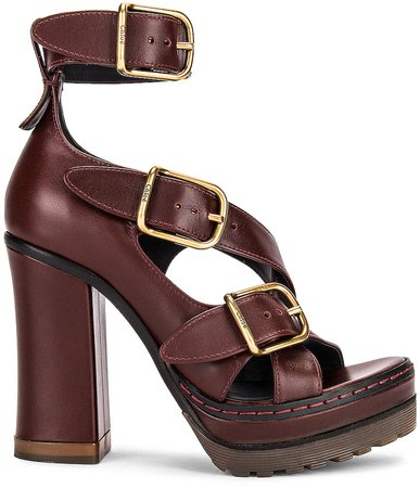 Daisy Platform Sandals in Hot Tan | FWRD